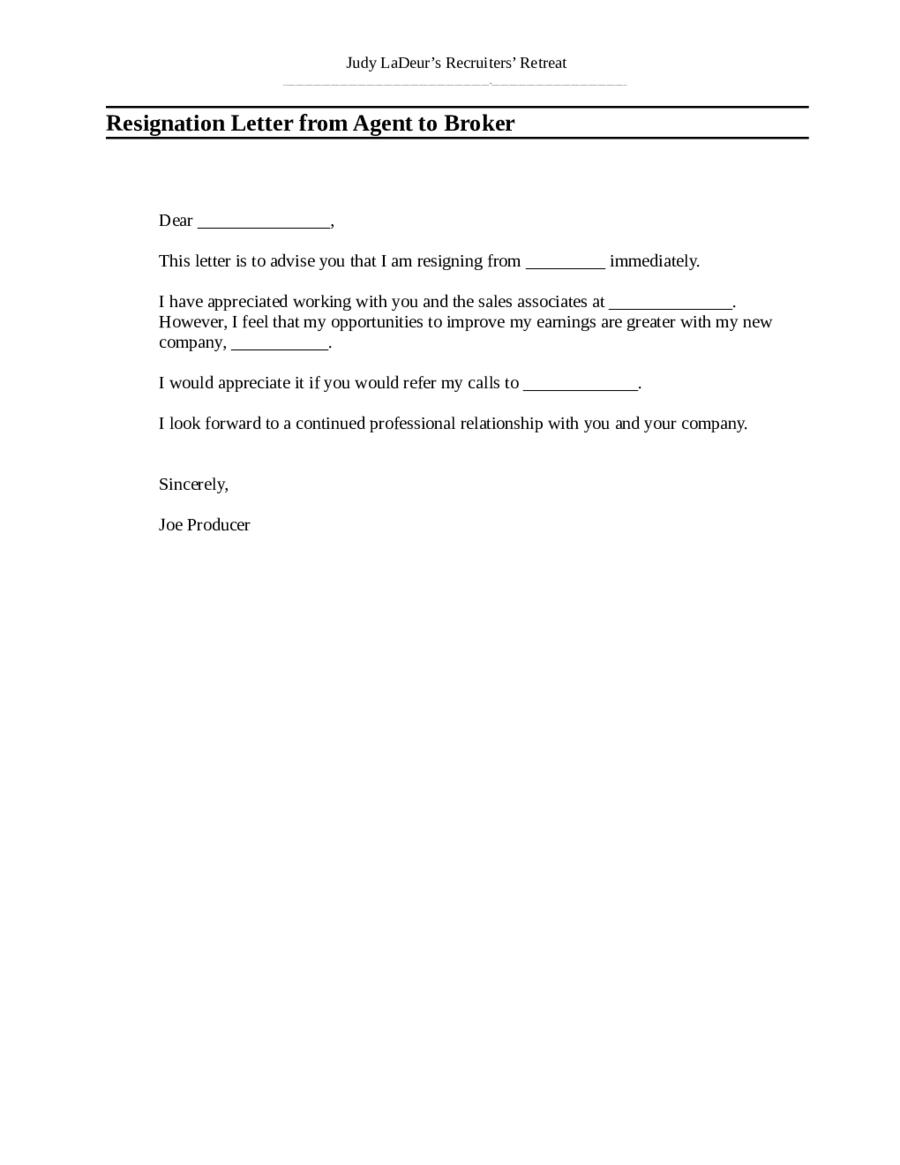 Resignation Lettet Resignation Letter Sample Resignation Letter