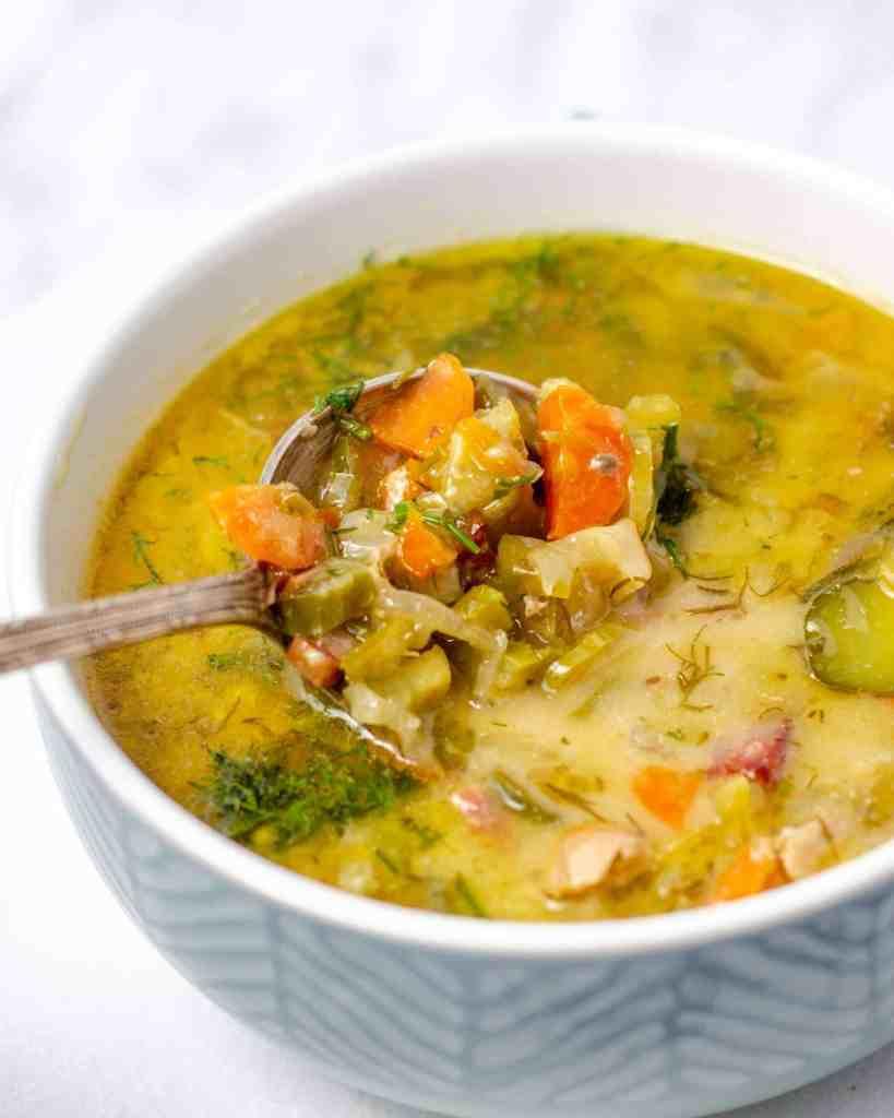 keto Dill Pickle Soup