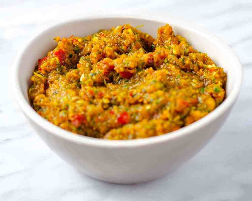 Aromatic Curry Paste in a small dish