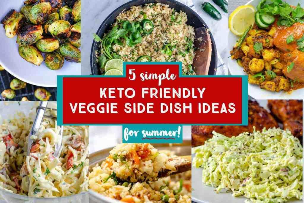 5 simple keto friendly side dish ideas pin image