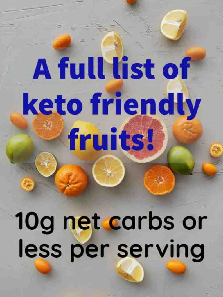A full list of low carb fruits for the keto diet