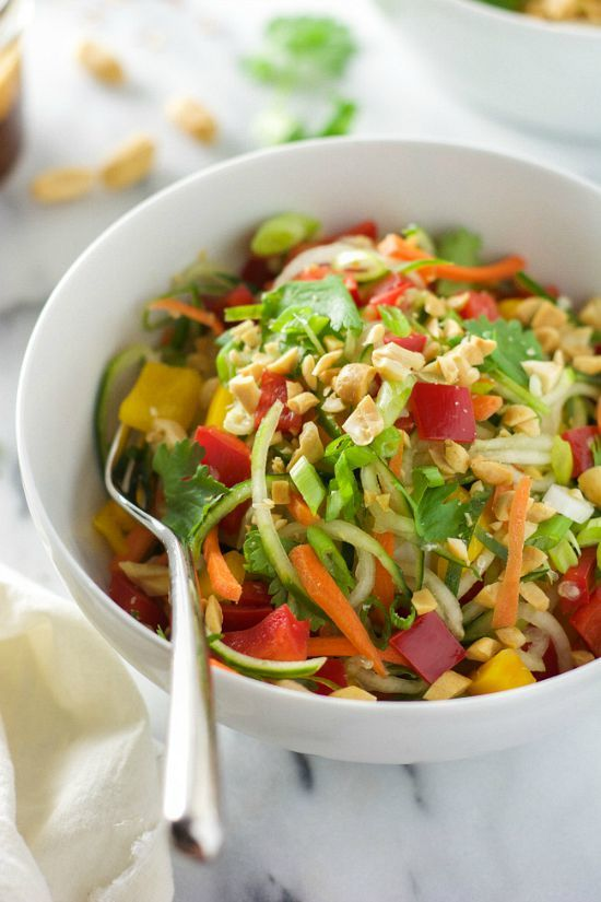 Thai Cucumber Salad with Peanut Chili Vinaigrette by With Salt & Wit