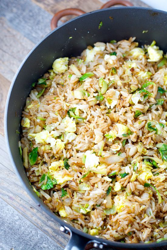 Crispy Brussels Sprouts Fried Rice by Maebells