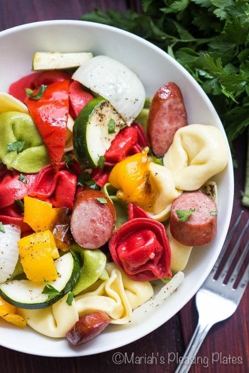 30 minute Smoked Turkey Sausage Pasta by Mariah's Pleasing Plates