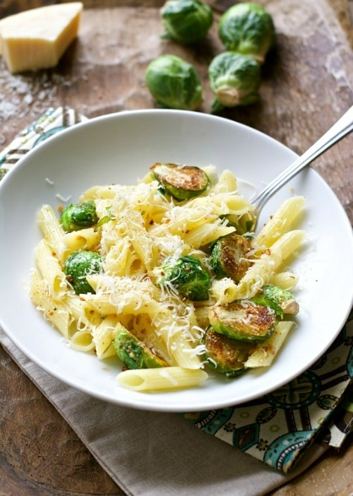 Browned Butter Penne with Brussels Sprouts by Maebells
