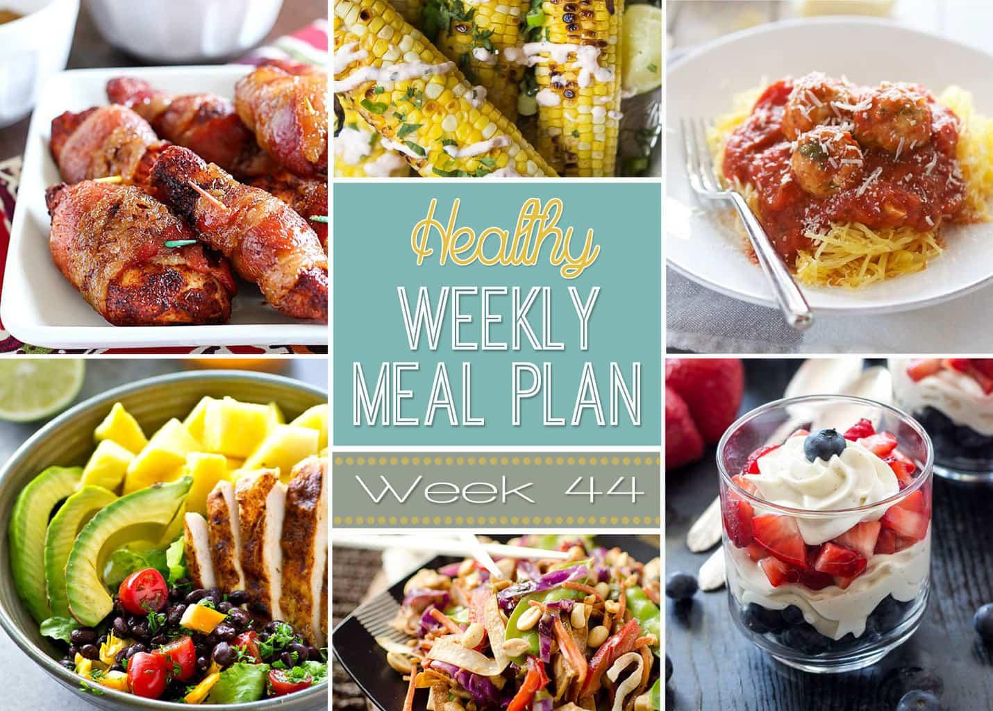 Healthy Weekly Meal Plan 44