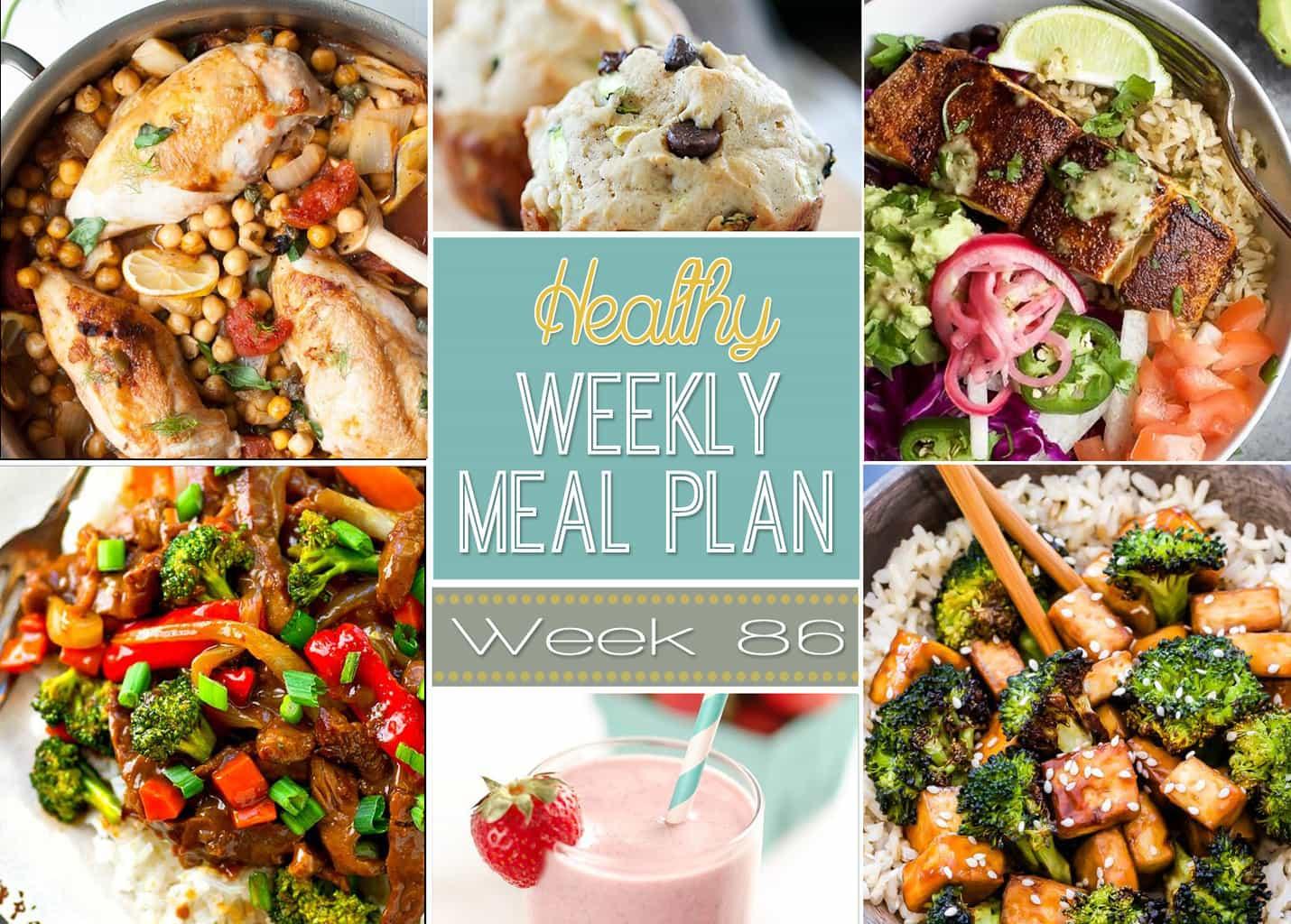 Healthy Weekly Meal Plan 86