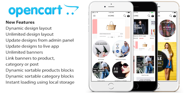 Opencart mobile app ionic 3 source code with opencart module for iOS