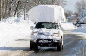 Snow-on-car