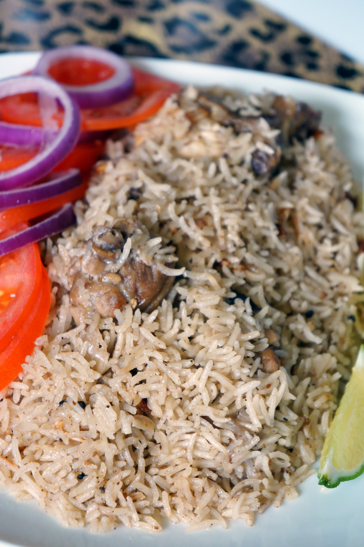 Close up shot of Kenyan Chicken Pilau Rice