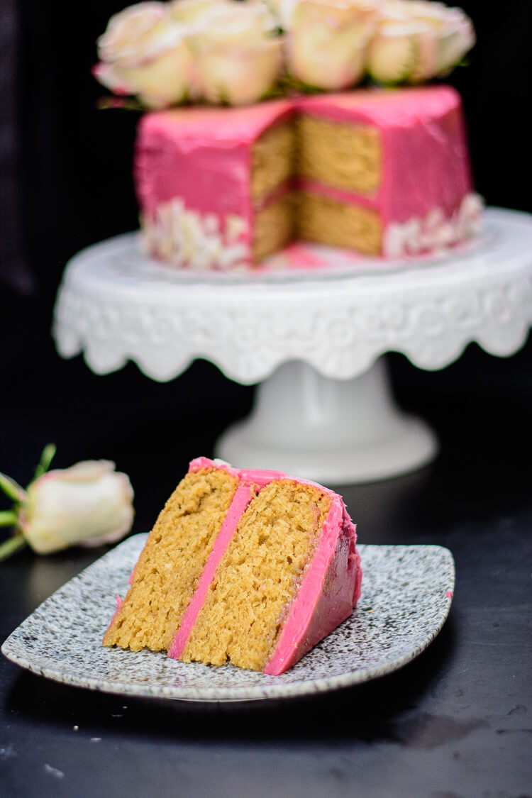 Earl Grey Tea Cake With Hibiscus Frosting Yummy Medley