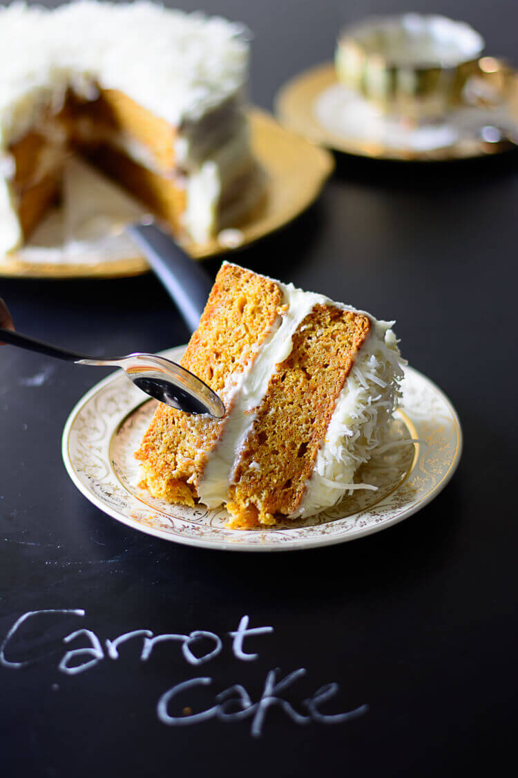 Moroccan Ras El Hanout Spiced Carrot Cake