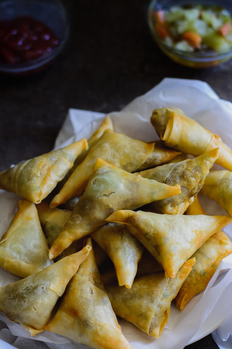 Kenyan Samosas fresh out the fryer and ready!