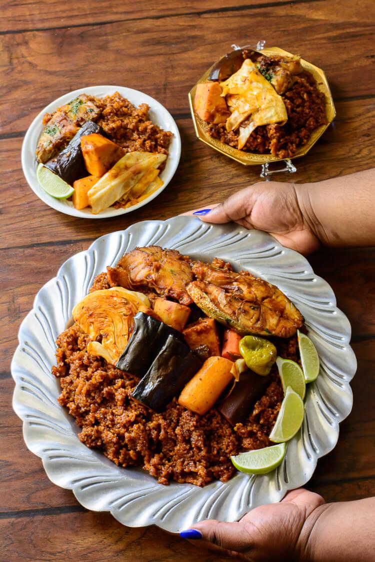 Thieboudienne: Senegalese Jollof Rice and Fish - Bon Appetit!