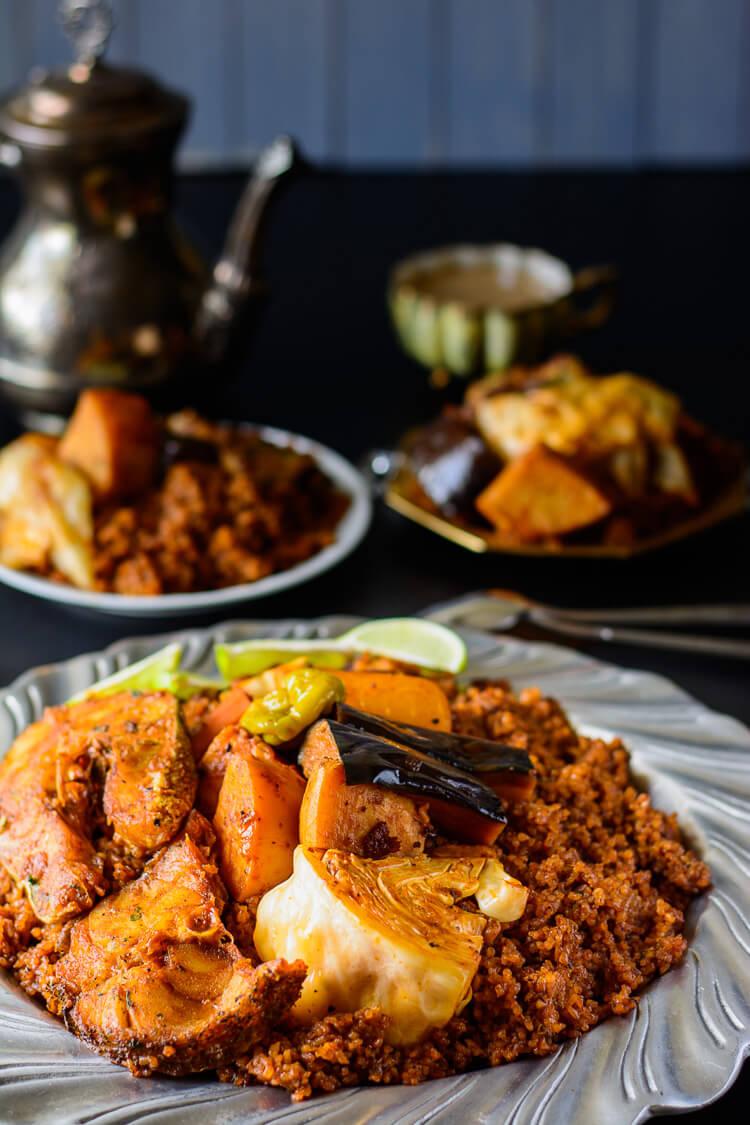 Senegalese jollof fish stew