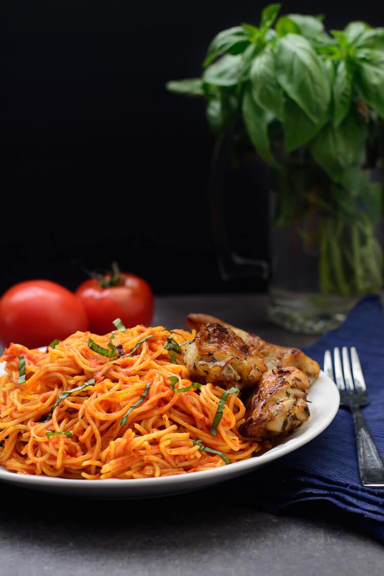 Jollof Spaghetti - bon appetit