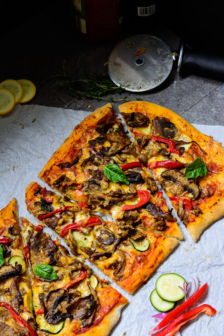 Jamaican Jerk Mushroom pizza