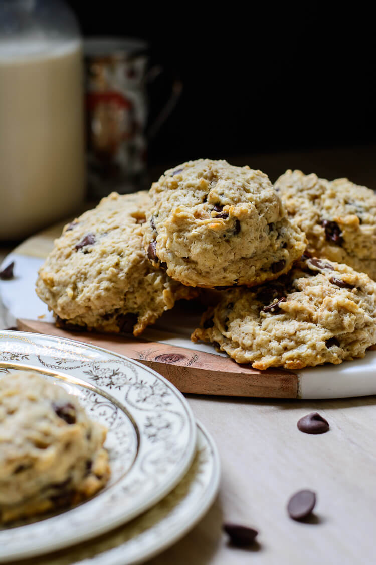 Vegan Chocolate Chip Rock Cakes (Rock Buns)