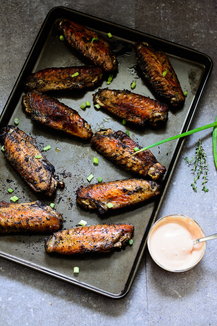 Jerk Turkey Wings - top far shot