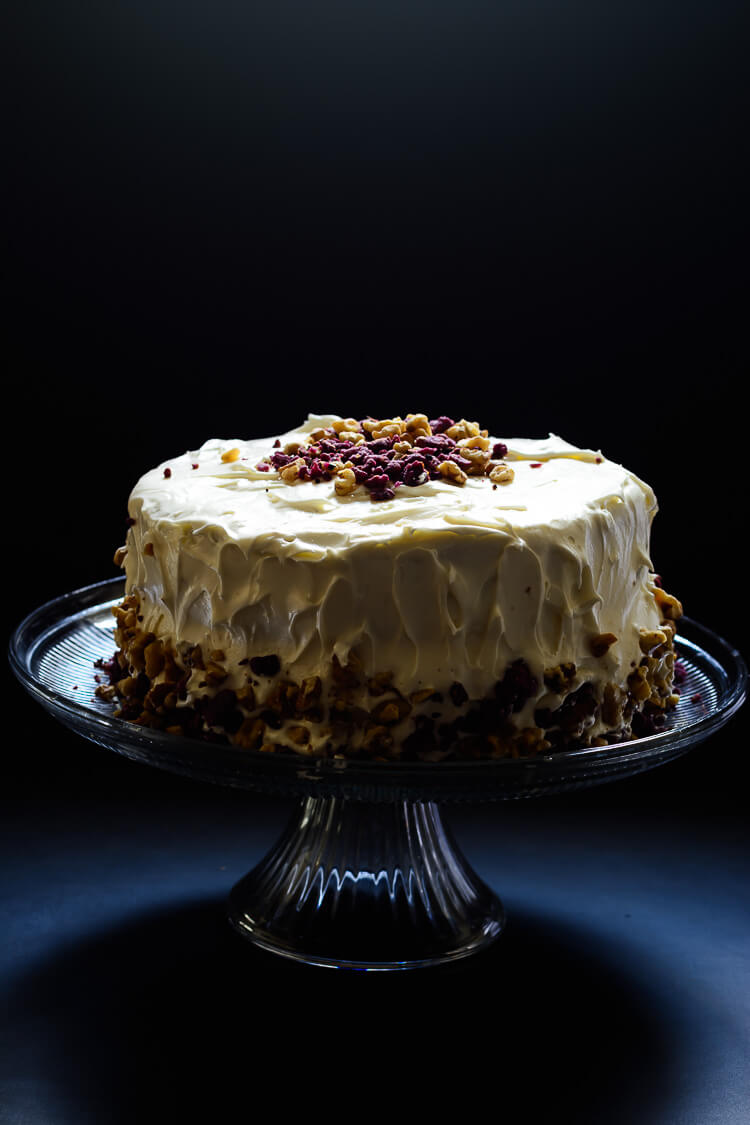 Purple Sweet Potato Cake with Marshmallow Cream Cheese Frosting - Spotlight