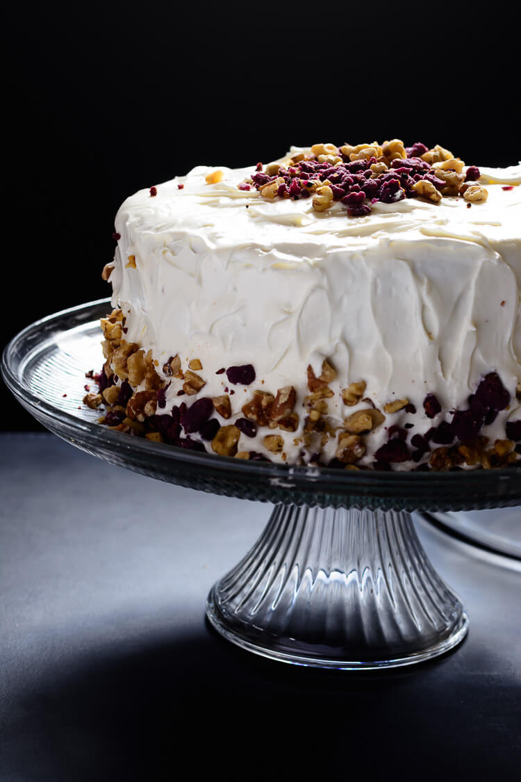 Purple Sweet Potato Cake with Marshmallow Cream Cheese Frosting