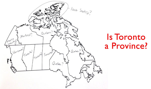 Americans Attempt To Label Map Of Canada, Hilarity Ensues
