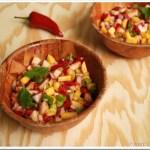 Fresh Peach Salsa / Salsa de Melocoton