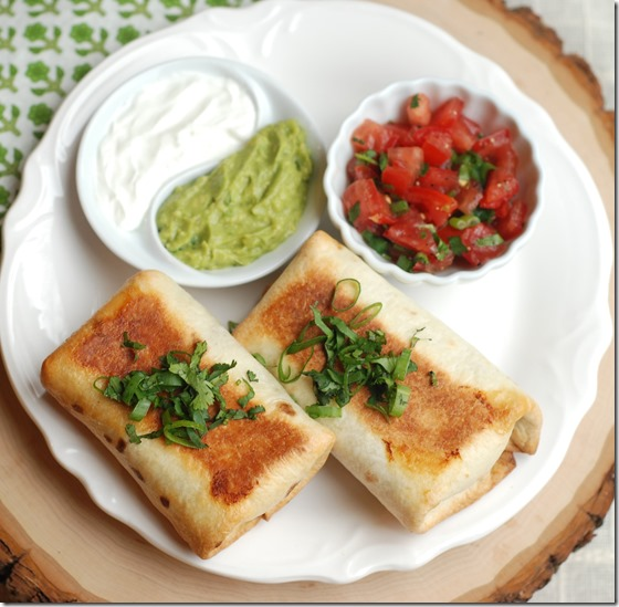 Chicken chimichangas