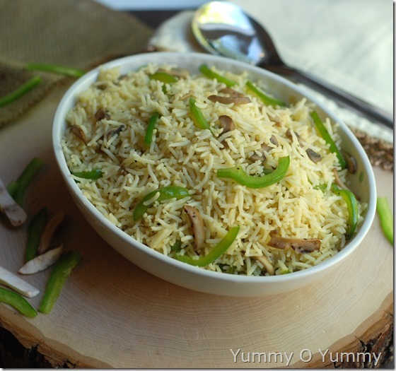 Mushroom capsicum rice