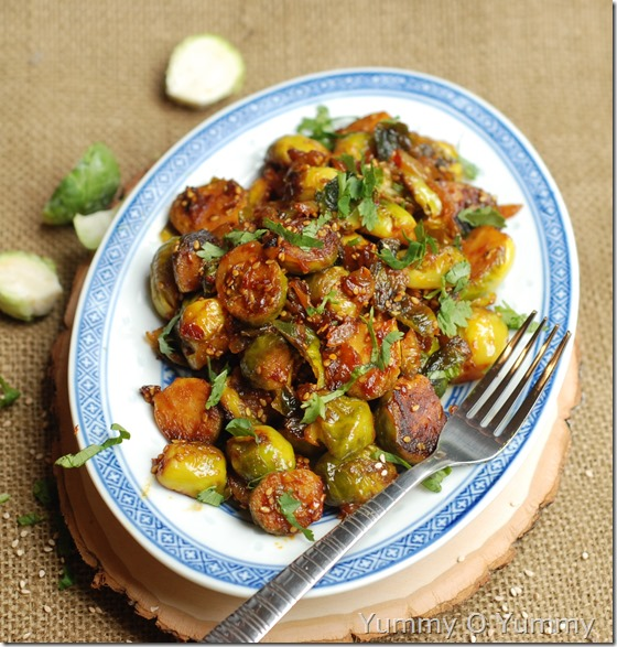 Stir-fried brussels sprouts