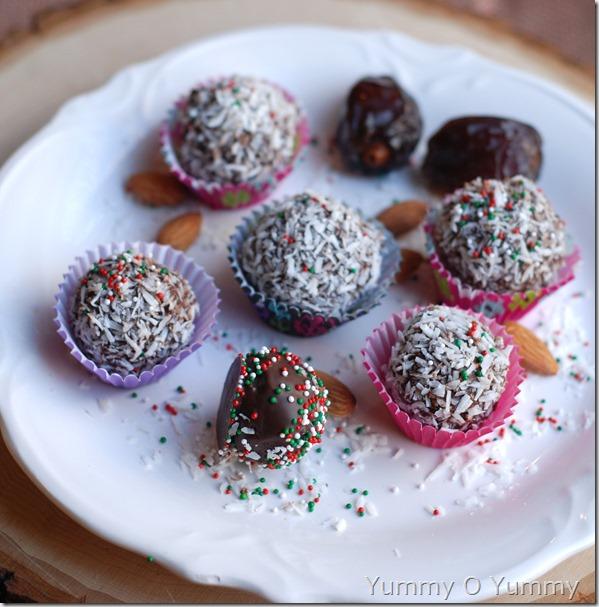 Healthy chocolate truffles