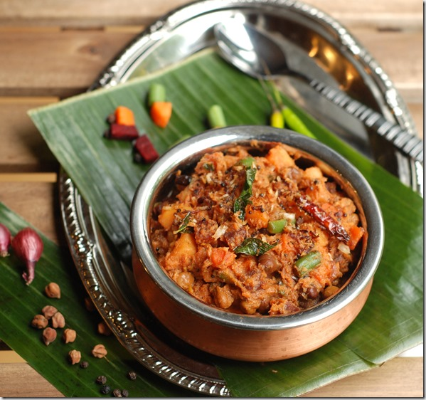 Mixed vegetable koottu curry