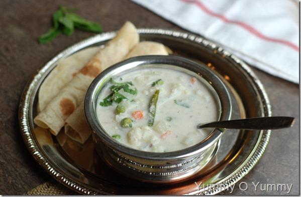 White vegetable kurma