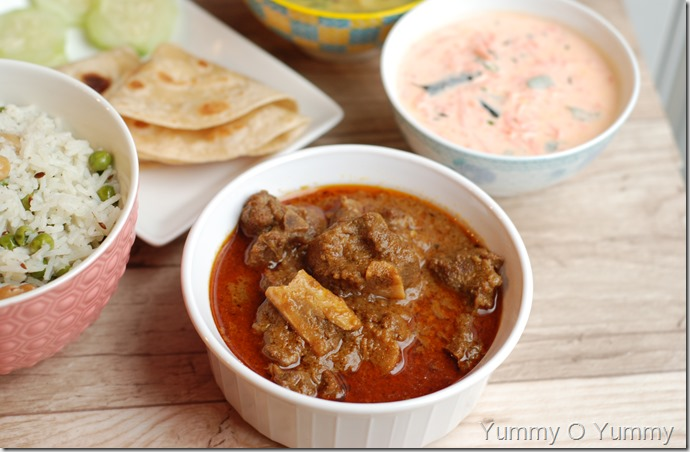 Dhaba style mutton curry