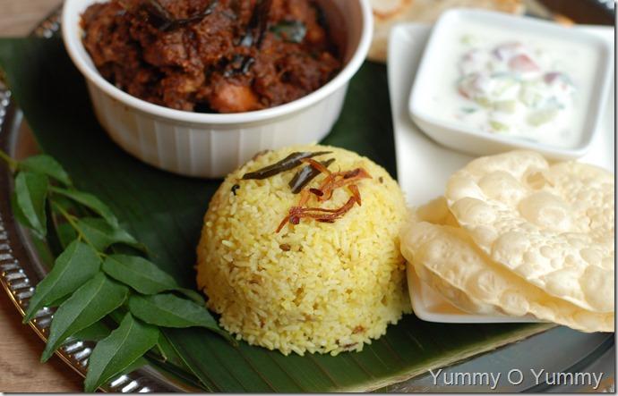 Malabar coconut rice with coconut milk