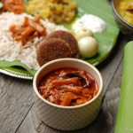 Chembin Thaalu Pulincurry / Colocasia (Taro) Stem Curry