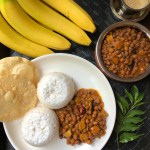 Varutharacha Kadala Curry / Black Garbanzo Beans with a roasted coconut paste