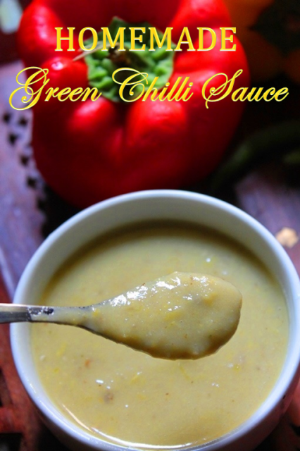 How to make Green Chilli Sauce at home