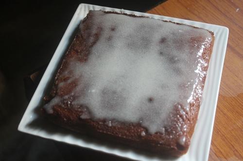 glaze over cake