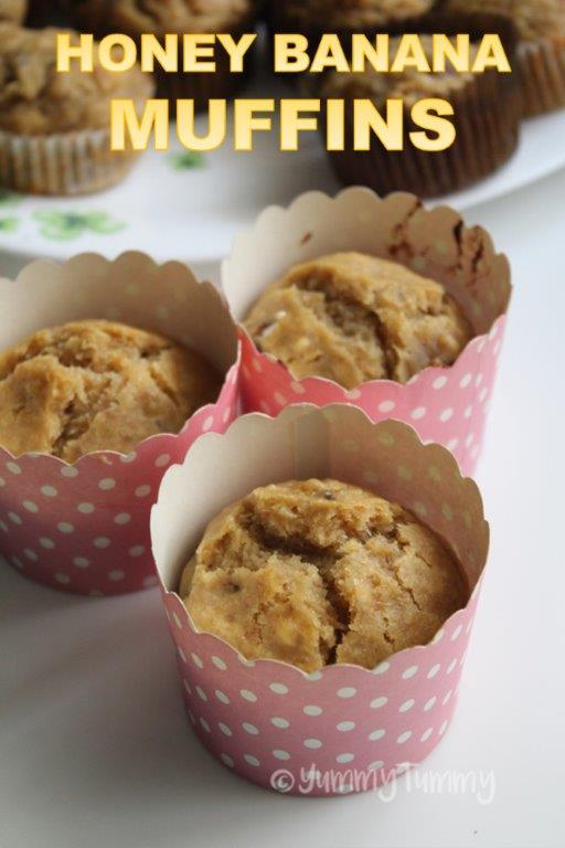 Honey Banana Muffins