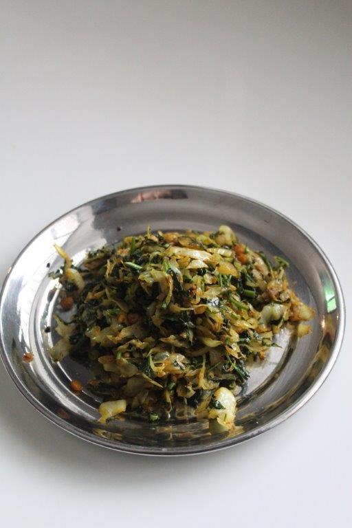 Cabbage Spinach Stir Fry