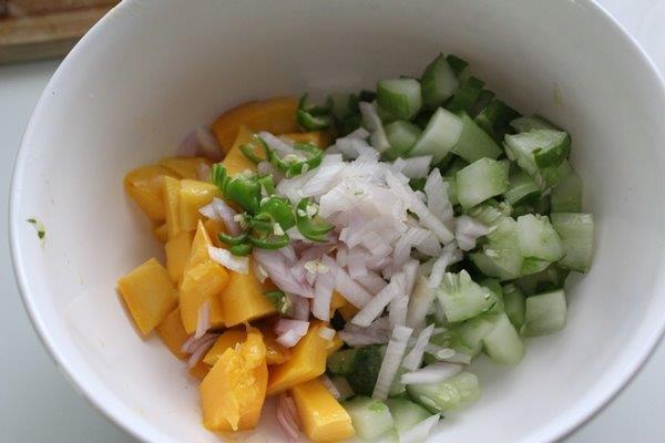Mango Cucumber Salsa step 3