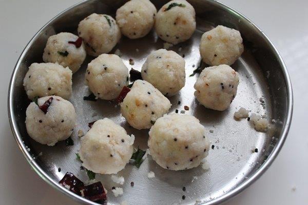 step 18 Rice Sago Kara Kolukattai