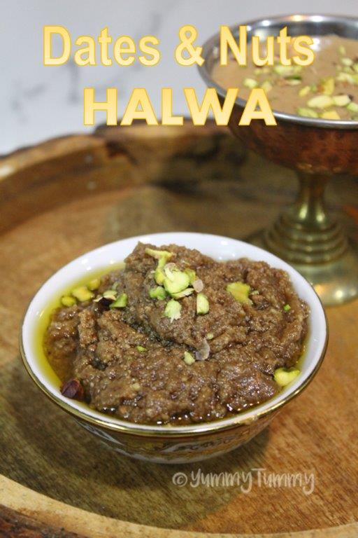Dates and Nuts Halwa
