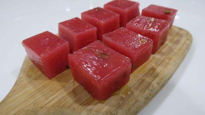 Strawberry Custard Halwa Recipe