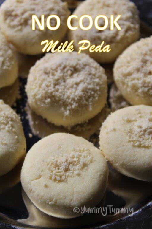 No Cook Milk Peda