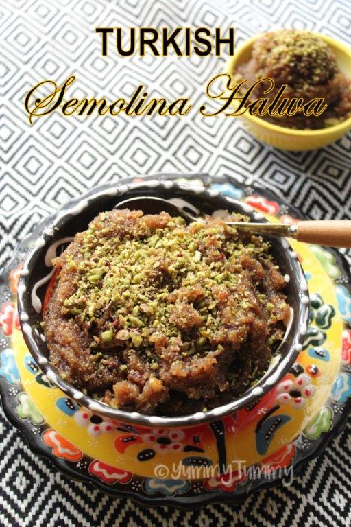 Turkish Semolina Halwa