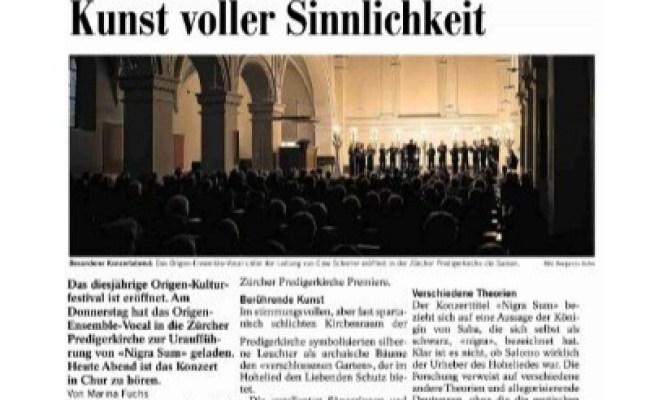 Die Südostschweiz Origen Festival Cultural