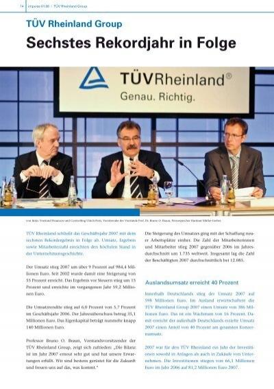 Sechstes Rekordjahr in Folge TÜV Rheinland Group - LGA