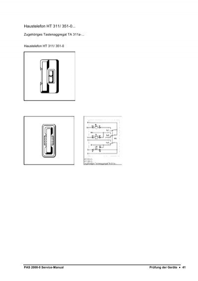 Haustelefon HT 311/ 351-0